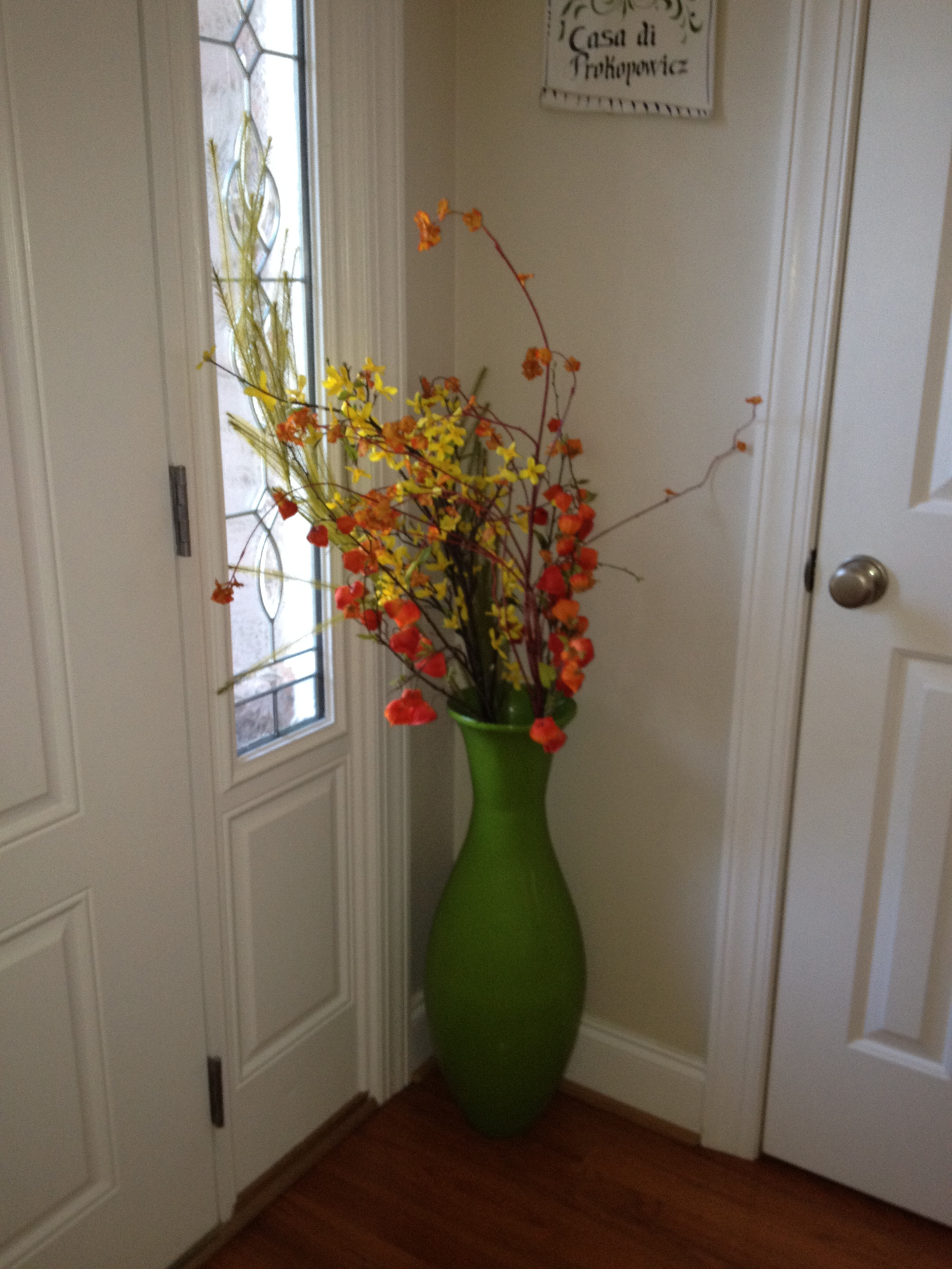 Fall is here ordinary life is extraordinary i was happy to find a bigger bamboo vase that matched the one above i found this one at home goods the flowers are also from pier floridaeventfo Choice Image