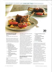 Provencal rack of lamb with roasted tomatoes 001